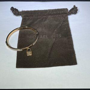 Michael Kors Pave' Rose Gold Lock Bracelet